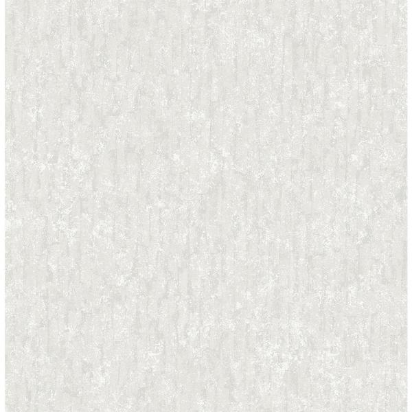 Brewster 56.4 sq. ft. Cole White Winter Plain Wallpaper 2767-23766