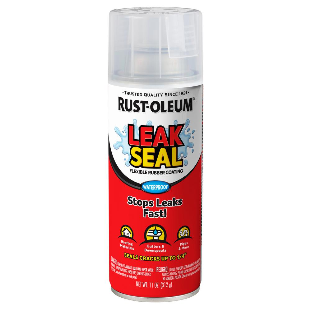 Rust-Oleum Stops Rust 11 oz  LeakSeal Clear Flexible Rubber Coating Spray  Paint