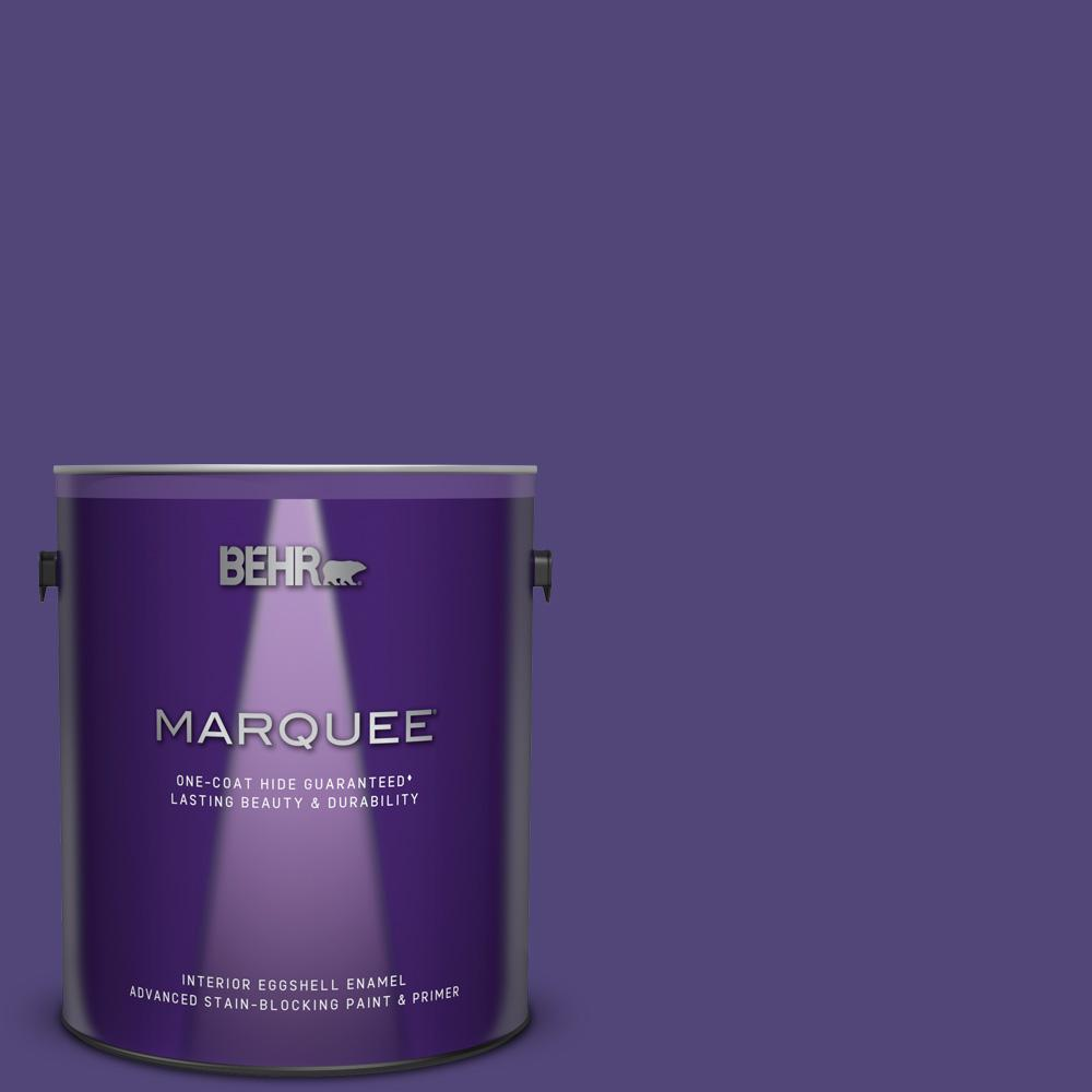Behr Marquee 1 Gal Mq5 42 Perpetual Purple One Coat Hide Eggshell Enamel Interior Paint And Primer In One