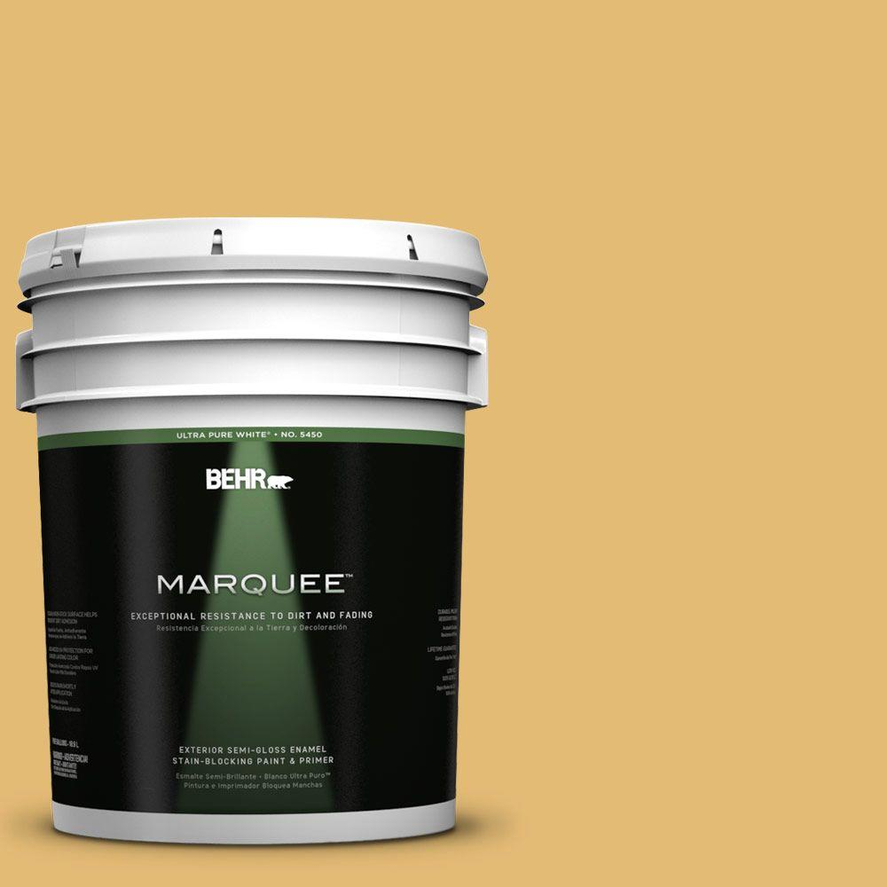BEHR MARQUEE 5-gal. #pmd-96 Wild Wheat Semi-Gloss Enamel Exterior Paint, Yellows/Golds