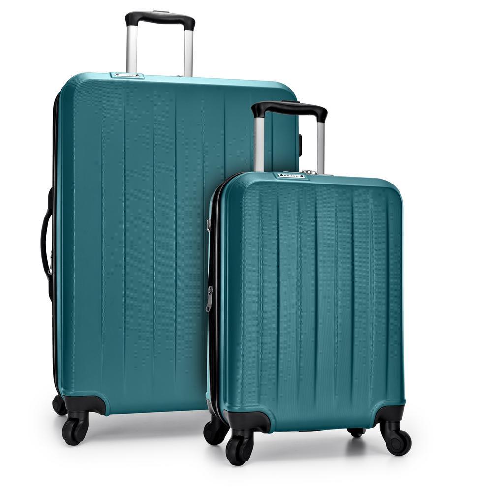 Havana 2-Piece Teal Spinner Luggage Set with USB Port