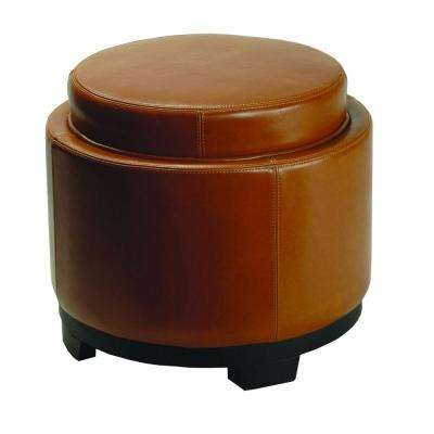 Murray Saddle Storage Ottoman