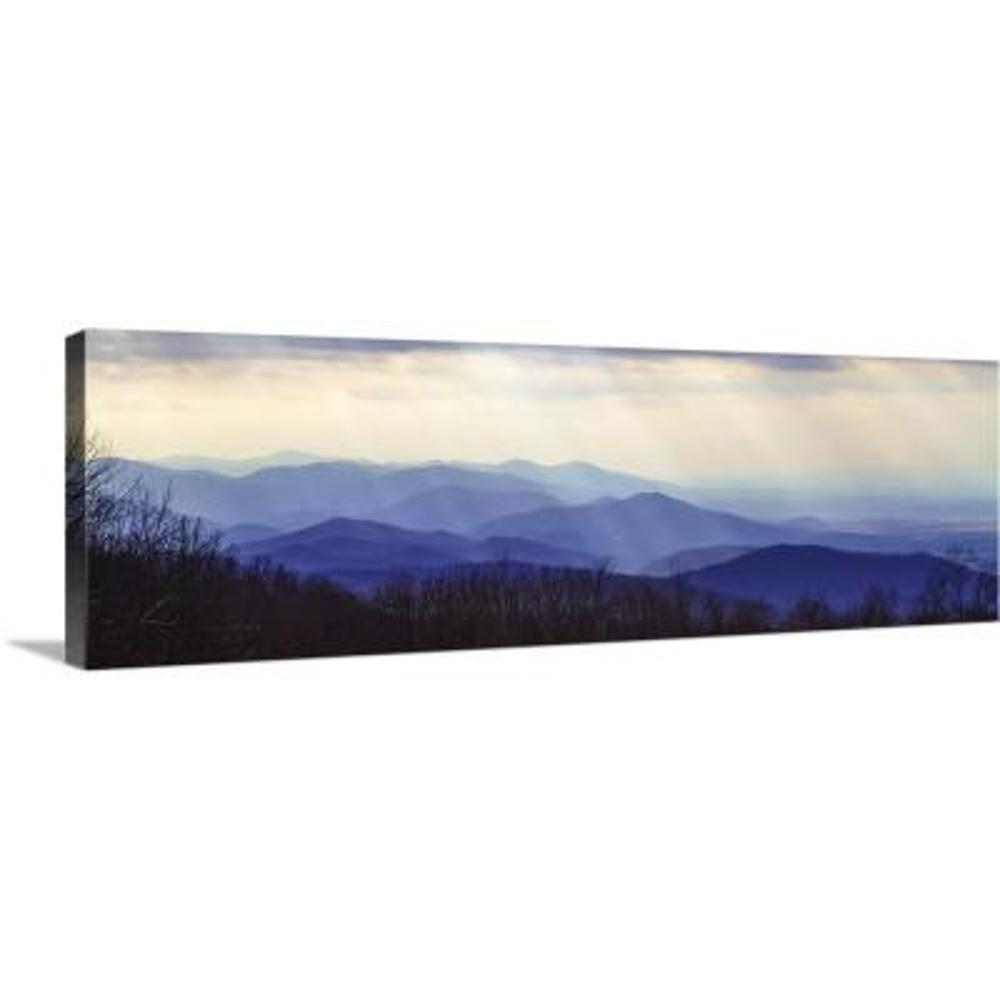 """Blue Ridge Winter I"" by Alan Hausenflock Canvas Wall Art"