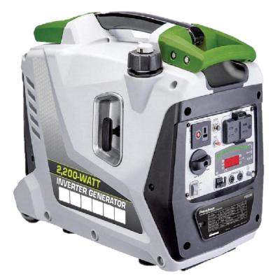 2200-Watt Portable Gas-Powered Digital Inverter Generator with 5 Outputs, LED Display, Pull Handle and Wheels