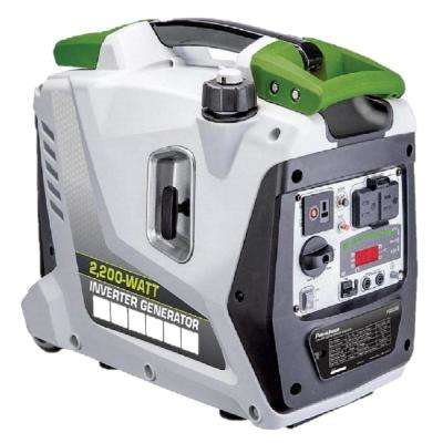 2200-Watt to 1700-Watt Gas Powered Parallel Ready Portable Inverter Generator with LED Display