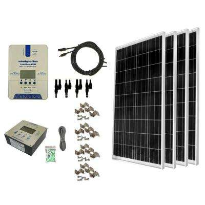 400-Watt Off-Grid Polycrystalline Solar Panel Kit with TrakMax MPPT 40 Amp Solar Charge Controller and Remote Meter