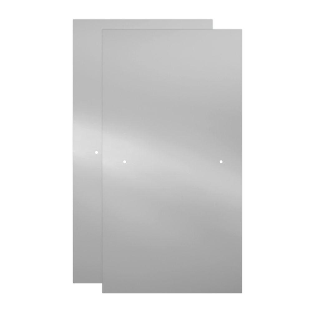 Delta 29-1/32 in. x 55-1/2 in. x 3/8 in. Frameless Sliding Bathtub Door Glass Panels in Clear (1-Pair for 50-60 in. Doors)