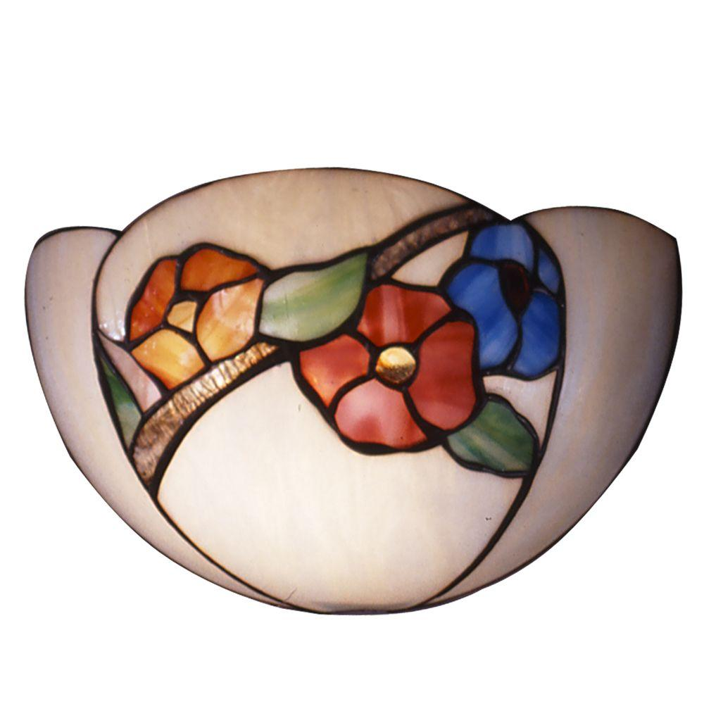 Dale Tiffany Apple Blossom 1-Light Wall Sconce-DISCONTINUED