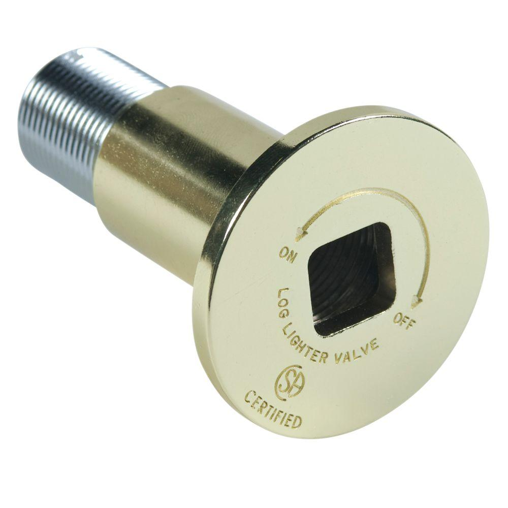 Blue Flame Patented Universal Decor Flange for 1/2 in. & 3/4 in. Gas Valve (Includes Bushing & Allen Wrench) in Polished Brass
