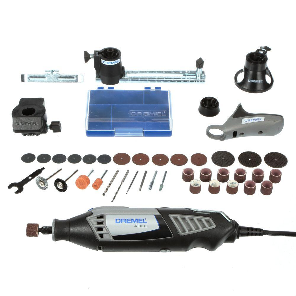 Dremel 4000 Series 1.6 Amp Variable Speed Corded Rotary Tool Kit with 36 Accessories and 4 Attachments and Carrying Case