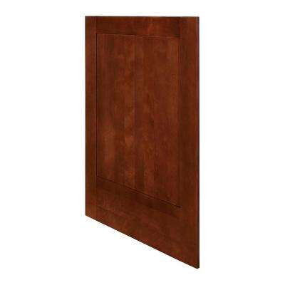 Kingsbridge Assembled 24 x 34.5 x .75 in. Kingsbridge Matching Base End Panel in Cabernet