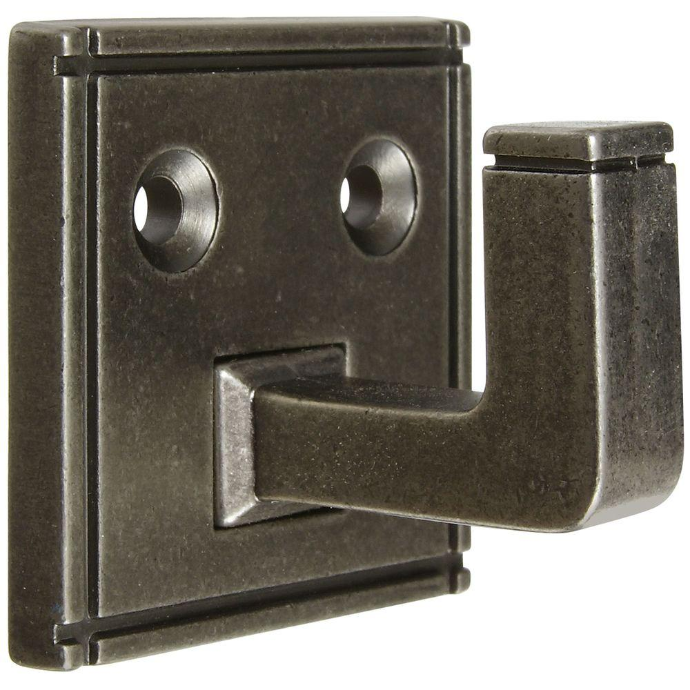 Stanley-National Hardware Ranch 1-3/4 in. Small Single Hook in Distressed Antique Pewter