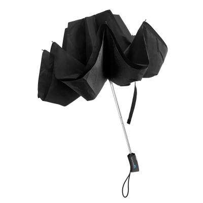34 in. Wide Wind Proof with Reverse Open/Close Technology Double-Ribbed Compact Umbrella