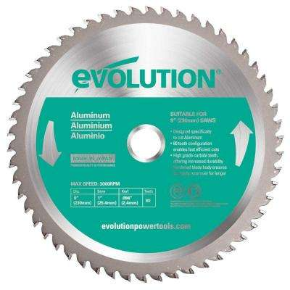 9 in. 80-Teeth Aluminum Cutting Saw Blade