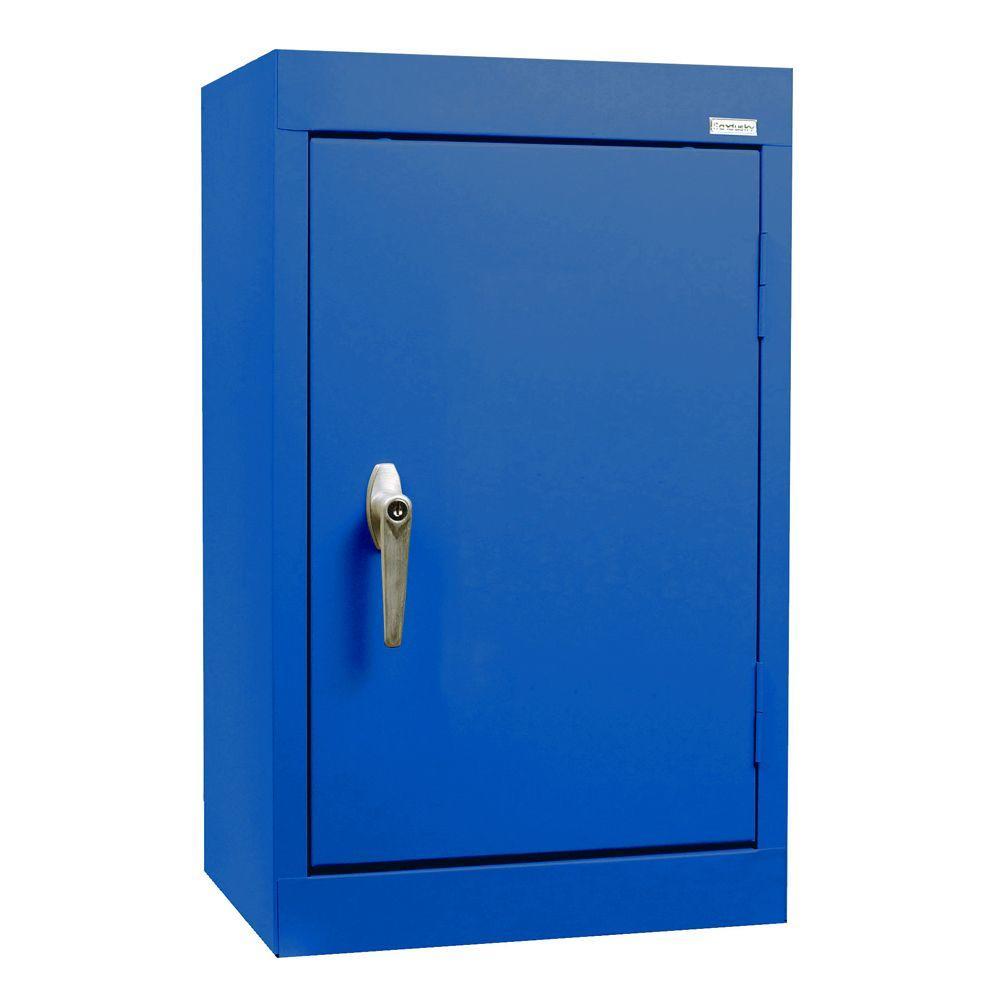 Sandusky 26 in. H x 18 in. W x 12 in. D Wall Cabinet in Blue