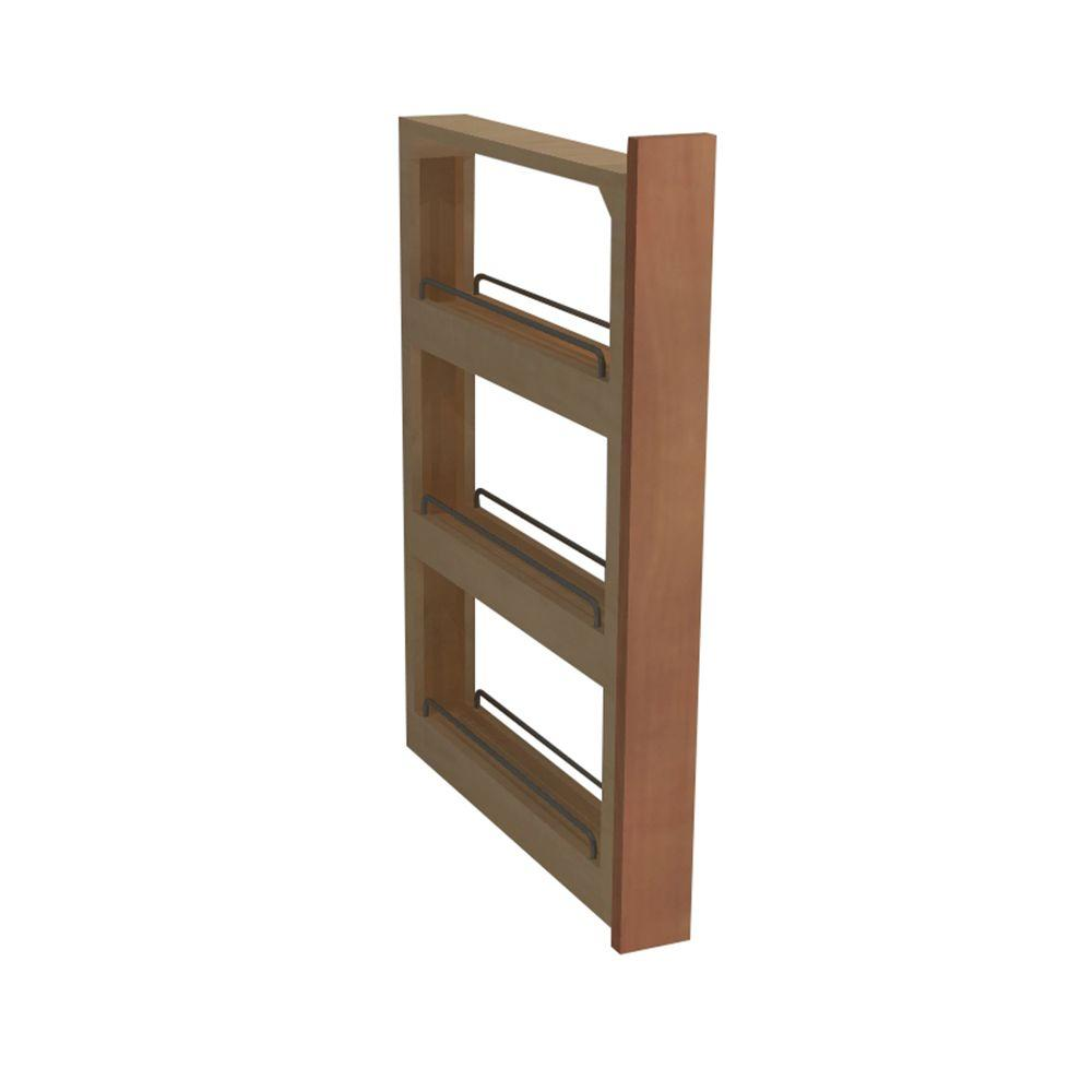 Home Decorators Collection Hargrove Assembled 3x34.5x21.5 in. Pantry Pullout Base Kitchen Cabinet in Cinnamon