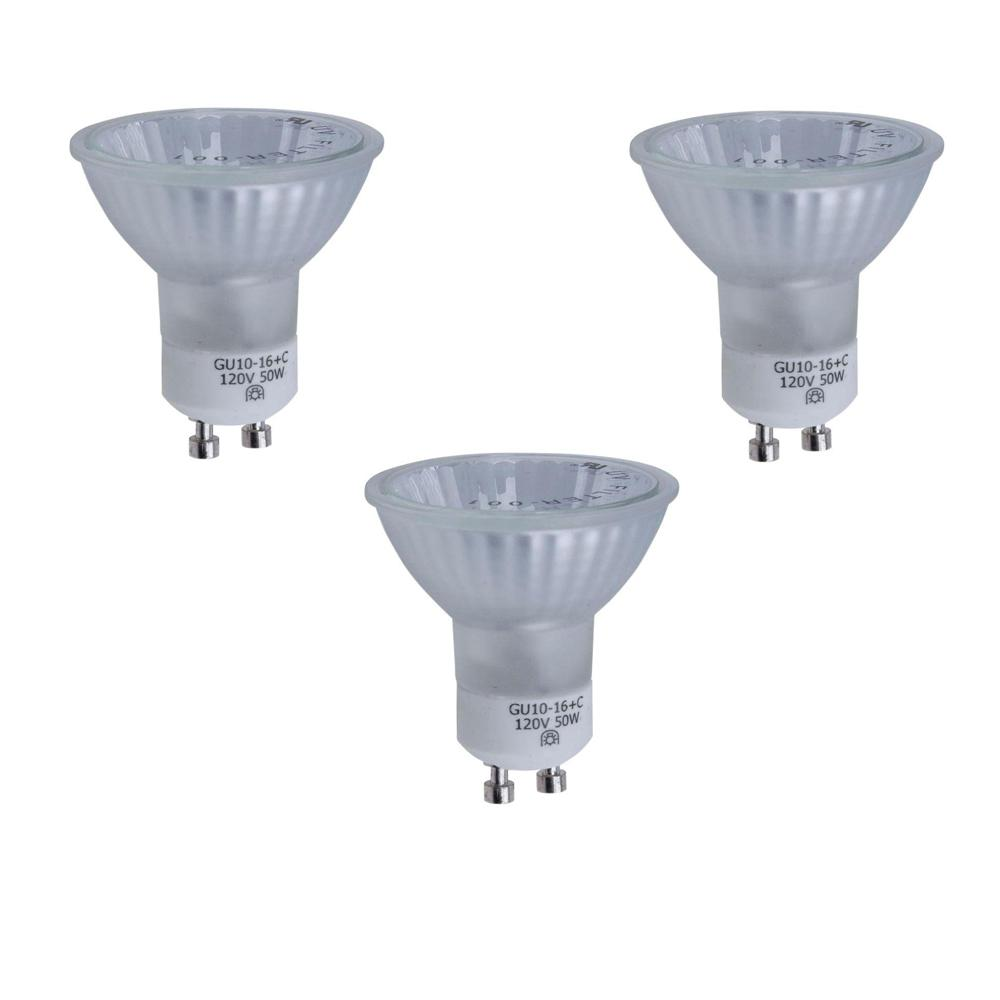 Hampton Bay 50-Watt GU10 Halogen Partial Reflector Light Bulb (3-Pack)