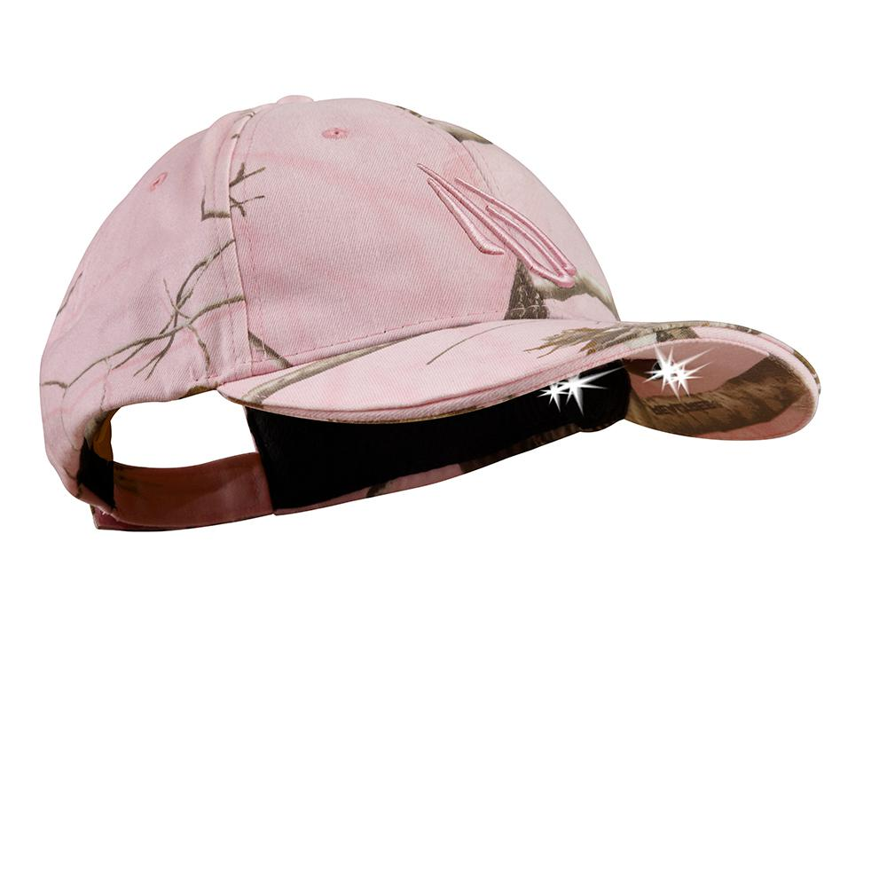 c67d394e0a8 POWERCAP Camo LED Hat 25 10 Ultra-Bright Hands Free Lighted Battery Powered  Headlamp Real Tree AP Pink Structured