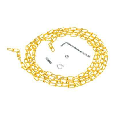 15 ft. Double Loop Coil Chain Yellow with Hanger