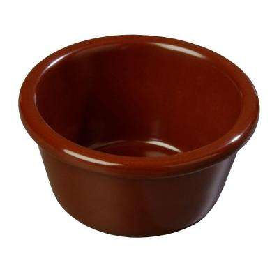 6 oz. Melamine Smooth sided Ramekin in Chocolate Brown (Case of 48)