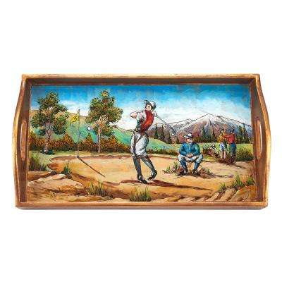 12.5 in. x 6.75 in. Golf Small Rectangle Tray