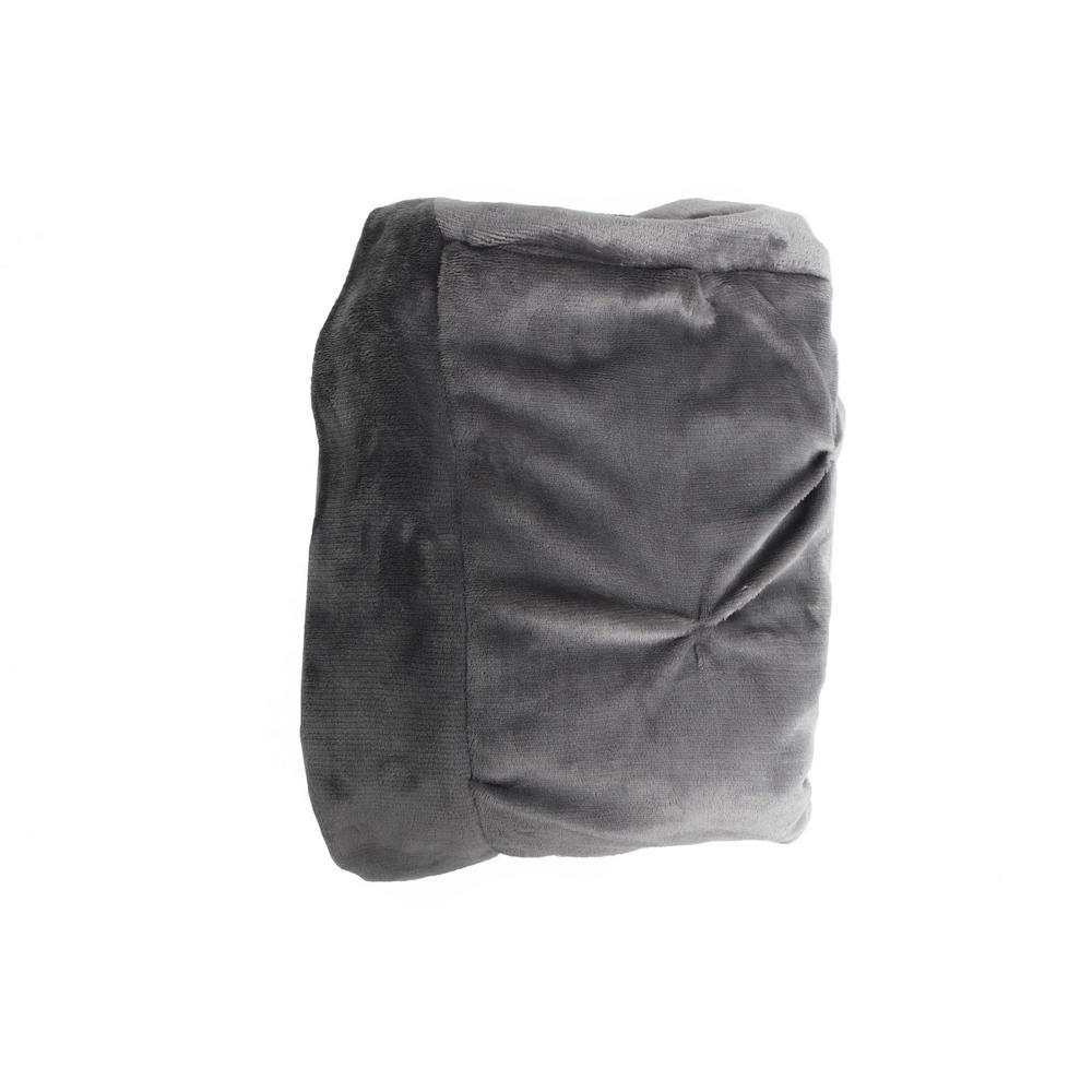 Oona Dark Grey Pintuck Throw