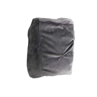 Oona Dark Grey Pintuck Throw