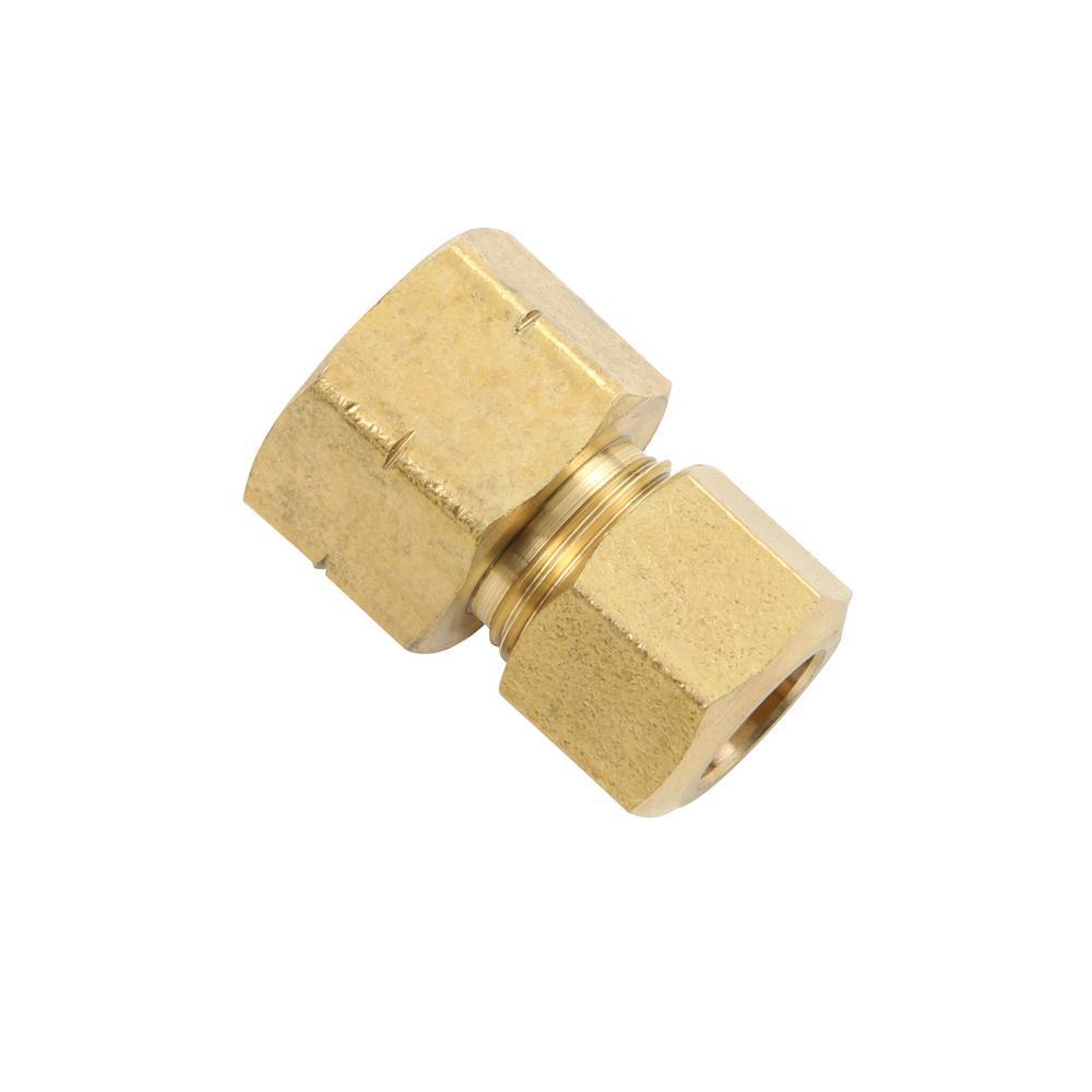 3/8 in. x 3/8 in. Fem Fl Lead- Free Brass Compression Adapter