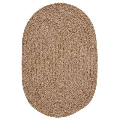 Dover Chenille Sandbar 2 ft. 3 in. x 3 ft. 10 in. Oval Braided Area Rug