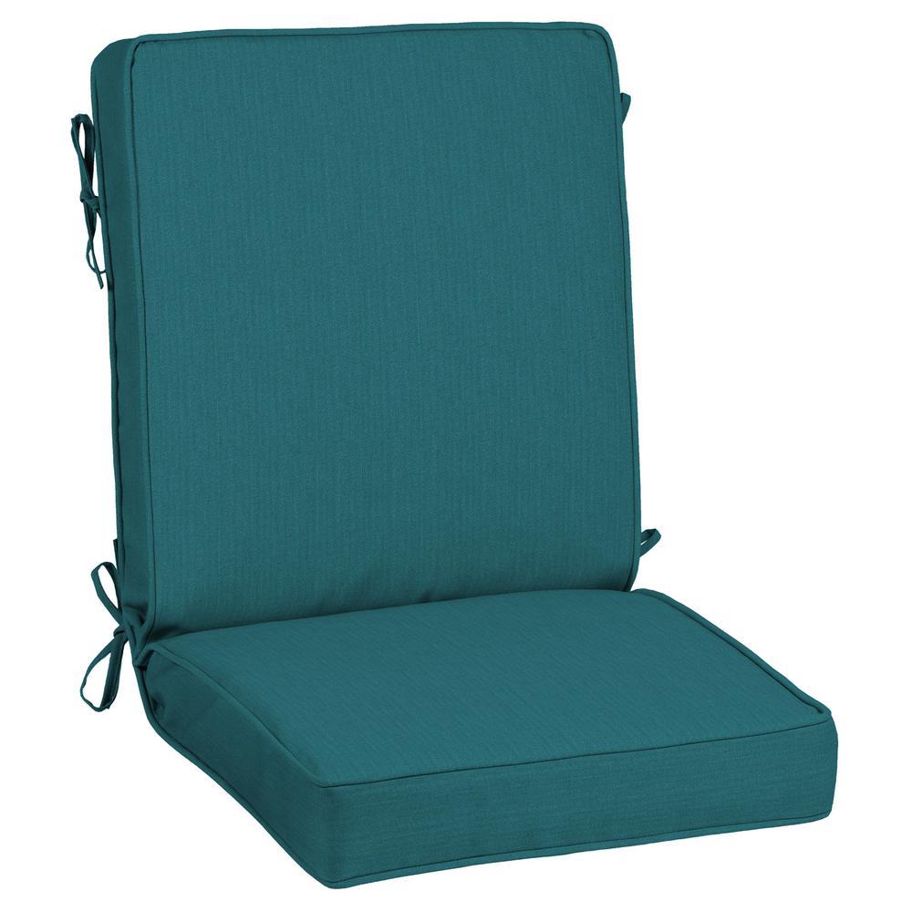 21 x 44 Sunbrella Spectrum Peacock Outdoor Dining Chair Cushion