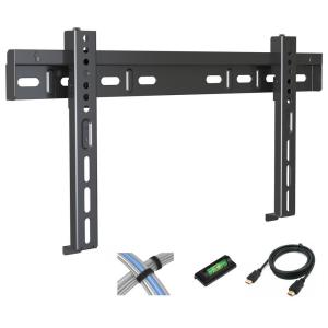 atlantic low profile fixed tv wall mount for 17 in 42 in flat screen tv 63607147 the home. Black Bedroom Furniture Sets. Home Design Ideas