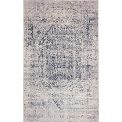 Chateau Quincy Gray 5' 0 x 8' 0 Area Rug