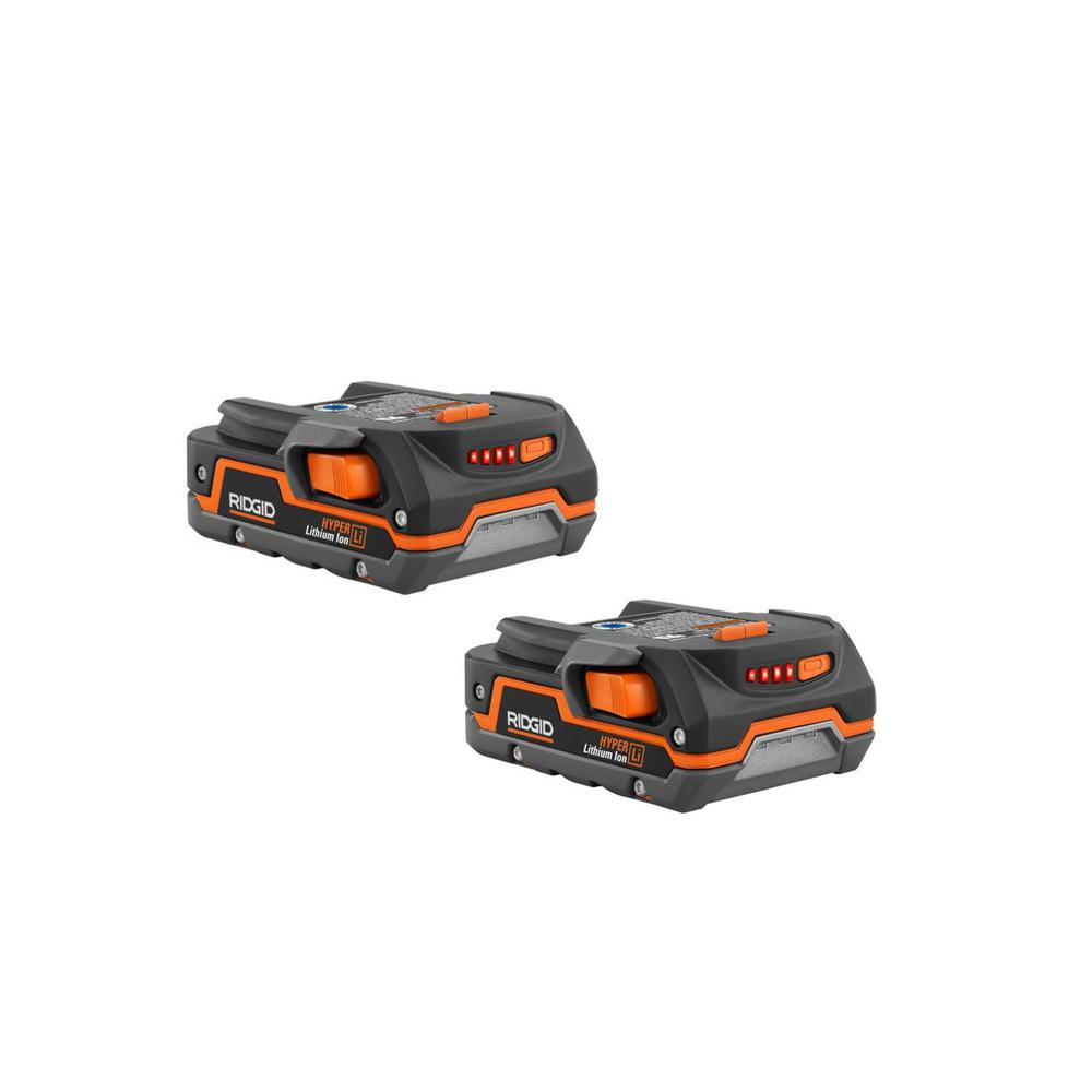 RIDGID 18-Volt 1.5 Ah Compact Lithium-Ion Battery (2-Pack) was $158.0 now $79.0 (50.0% off)