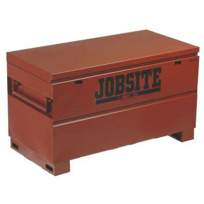 Jobsite 48 in. Long Heavy-Duty Steel Chest in Brown/Tan