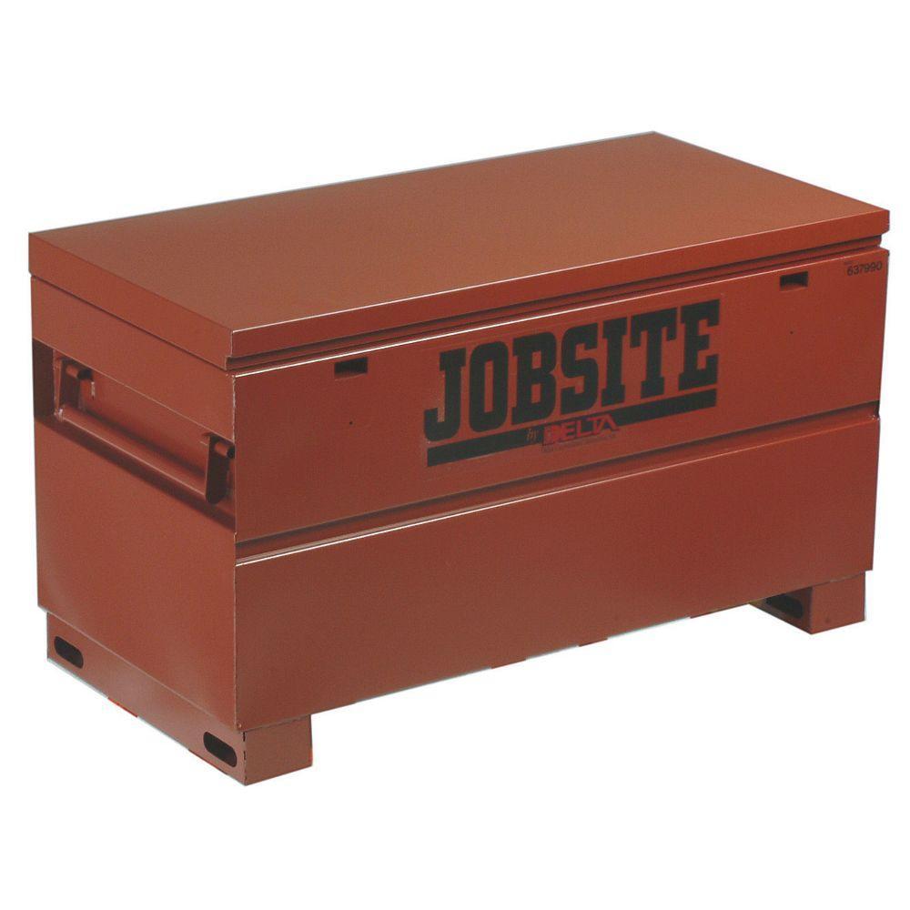 Jobsite 48 in. Long Heavy-Duty Steel Box in Brown/Tan