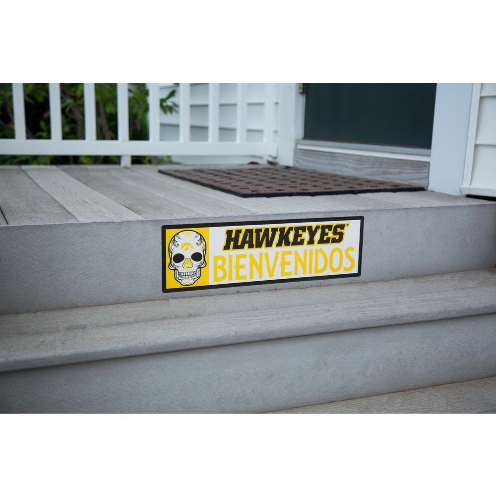 NCAA Iowa Hawkeyes Bienvenidos Step Graphic