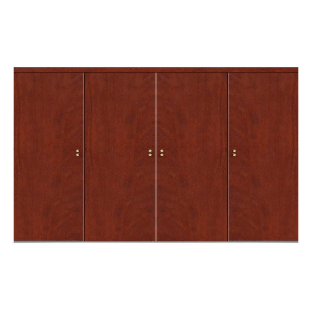 120 in. x 84 in. Smooth Flush Cherry Solid Core MDF