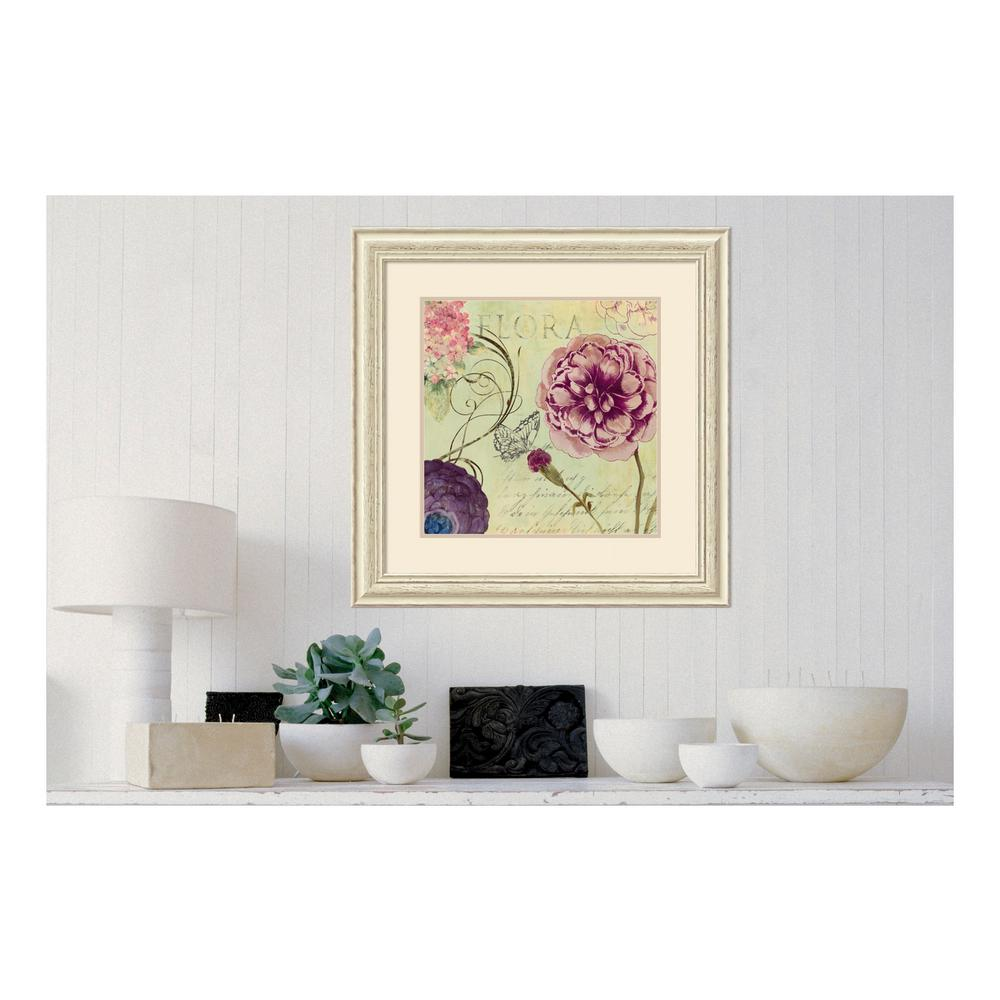 35ce039f02e Amanti Art 12 in. W x 12 in. H  Flower Series VIII  by Walter Gritsik  Printed Framed Wall Art-DSW140395 - The Home Depot