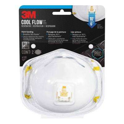 N95 Paint Sanding Valved Respirators Masks (2-Pack)