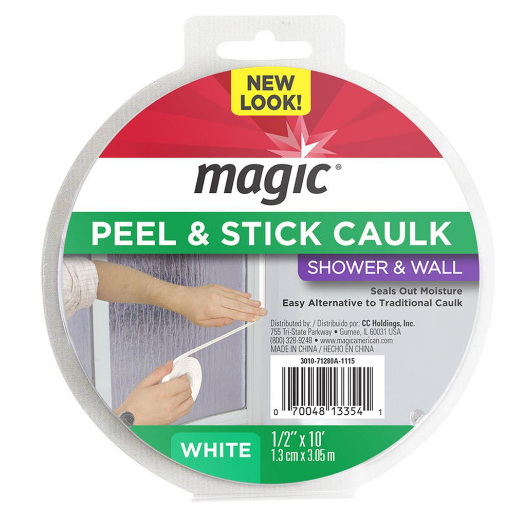 1/2 in. x 10 ft. Shower Peel and Stick Caulk Trim