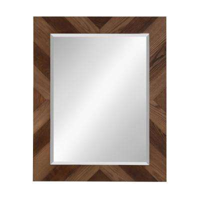 Rost Rectangle Brown Mirror