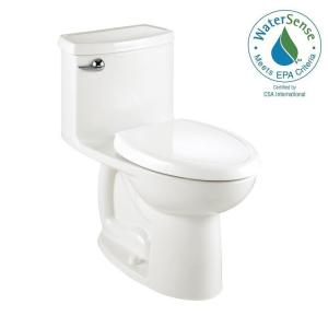 American Standard Compact Cadet 3 FloWise Tall Height 1-Piece 1.28 GPF Single Flush Elongated Toilet in White by American Standard