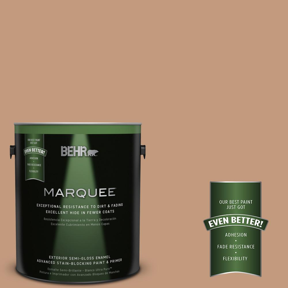 BEHR MARQUEE 1-gal. #PPU3-12 Egyptian Pyramid Semi-Gloss Enamel Exterior Paint