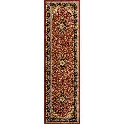 Barclay Medallion Kashan Red 2 ft. x 7 ft. Traditional Runner Rug