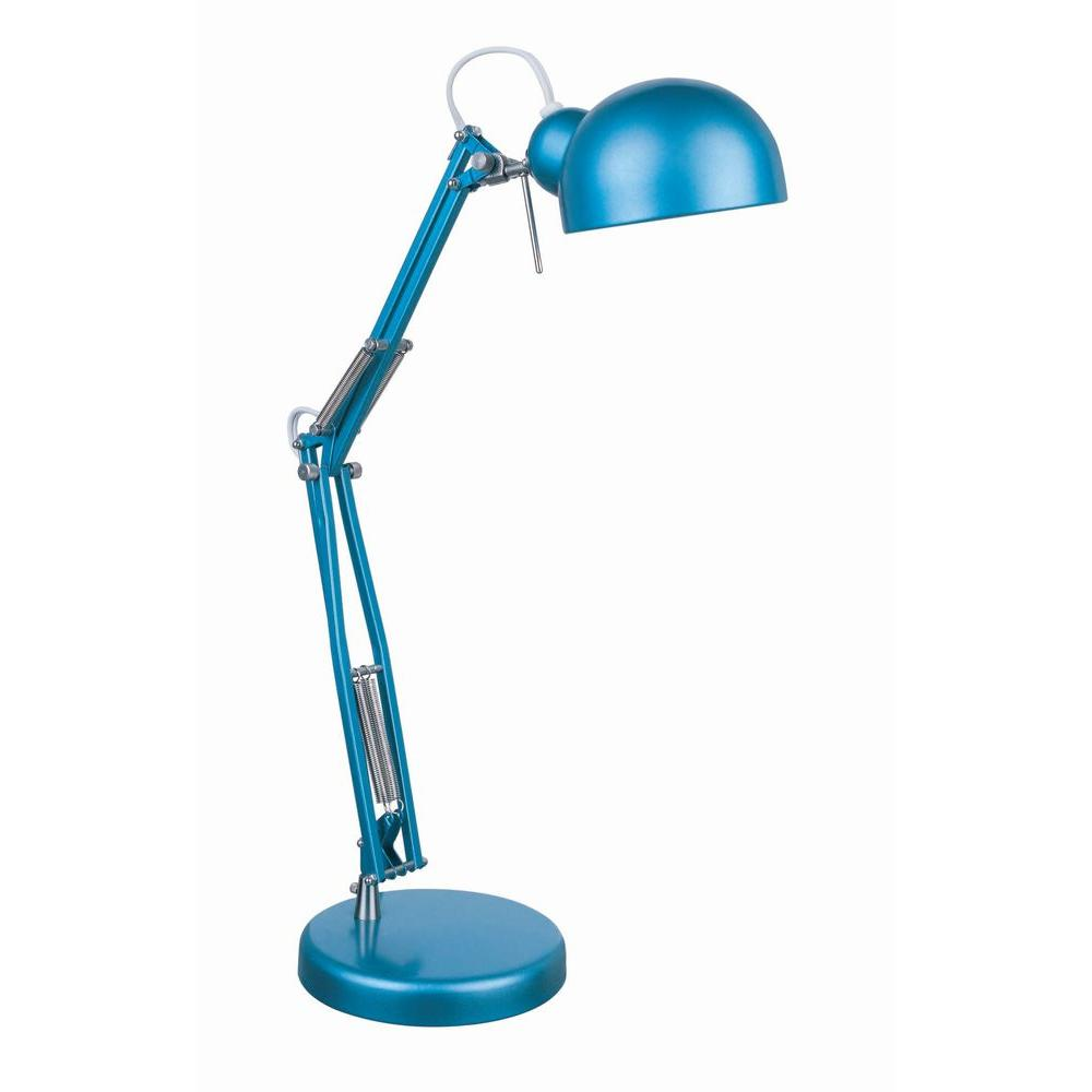 Illumine 1-Light Desk Lamp Blue Finish-DISCONTINUED
