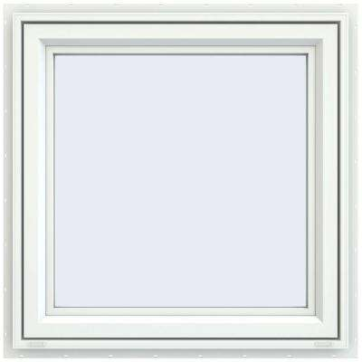 35.5 in. x 35.5 in. V-4500 Series Left-Hand Casement Vinyl Window - White