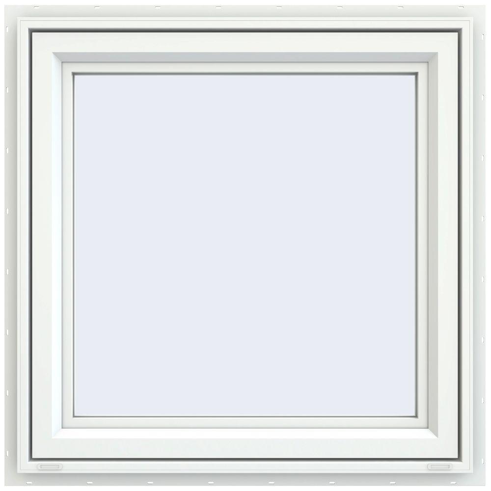 29.5 in. x 29.5 in. V-4500 Series Left-Hand Casement Vinyl Window - White
