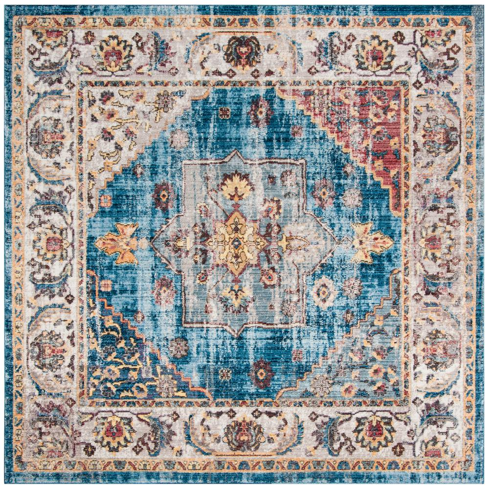 Safavieh Bristol Blue Ivory 7 Ft X 7 Ft Square Area Rug