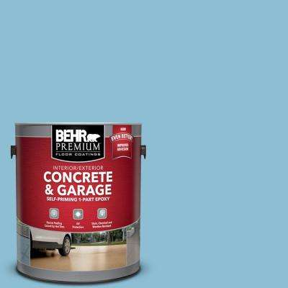 1 gal. #M490-3 Speedboat Self-Priming 1-Part Epoxy Satin Interior/Exterior Concrete and Garage Floor Paint