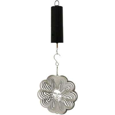 Silver Sun 6 in. Wind Spinner with Battery-Operated Motor